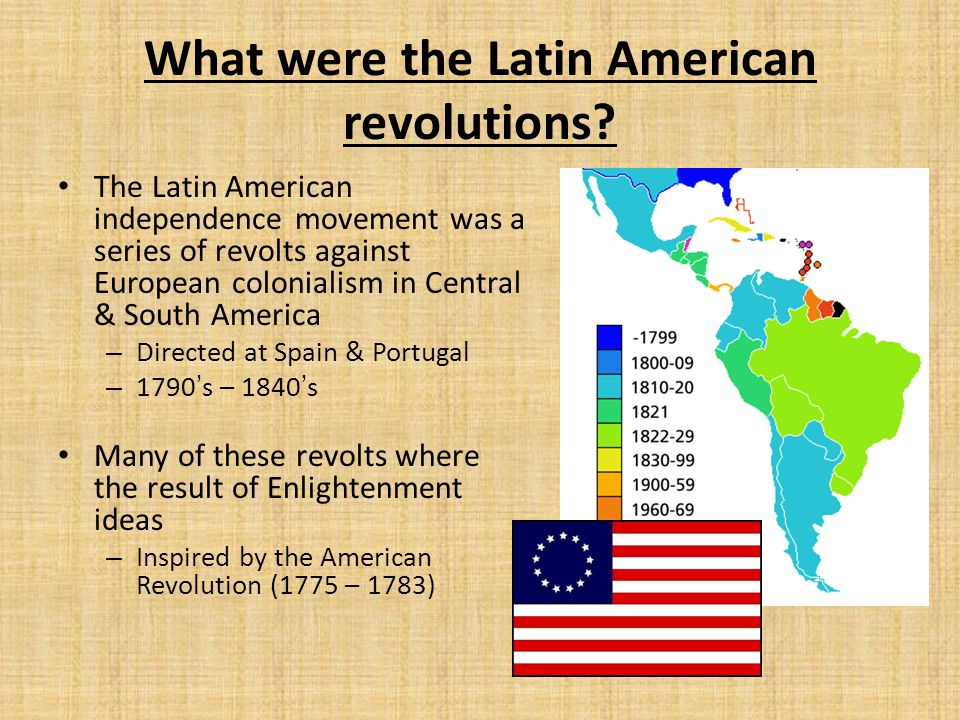 What were the Latin American revolutions