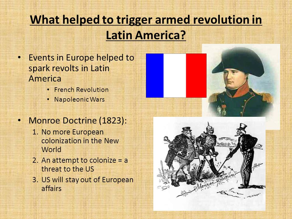 What helped to trigger armed revolution in Latin America