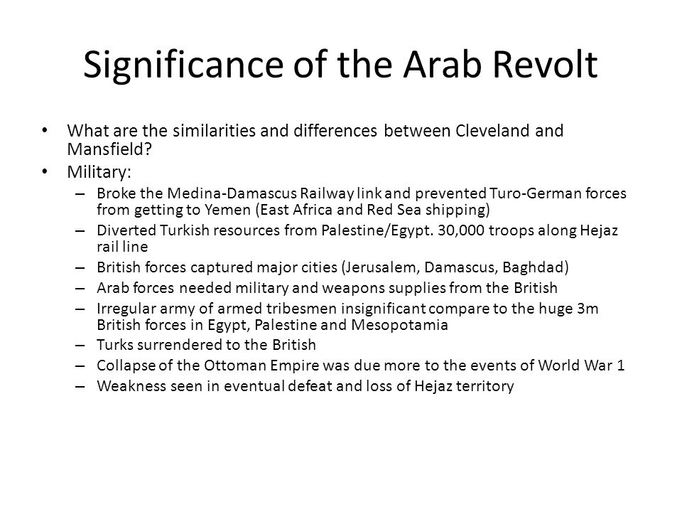 Significance of the Arab Revolt