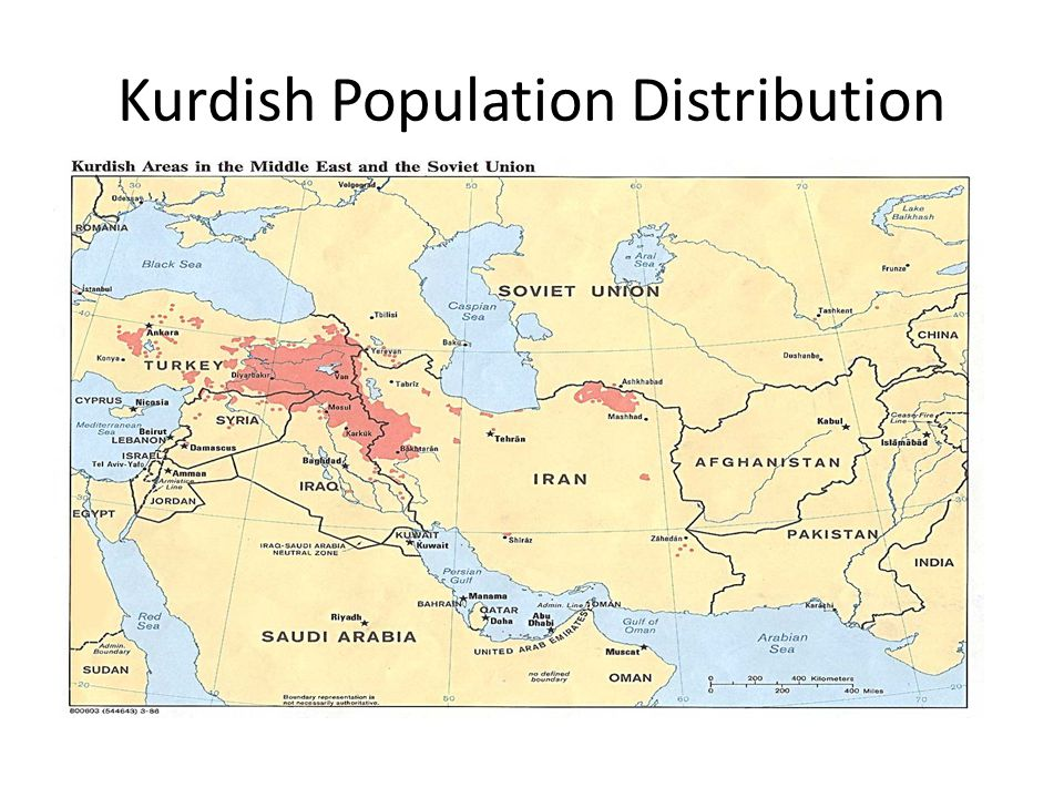 Kurdish Population Distribution