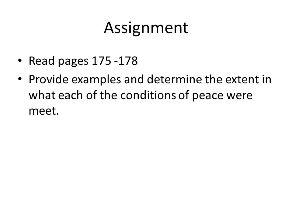 Assignment Read pages 175 -178