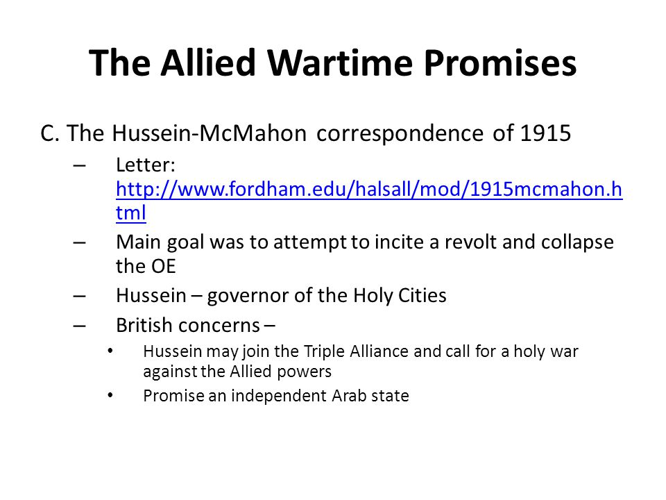 The Allied Wartime Promises
