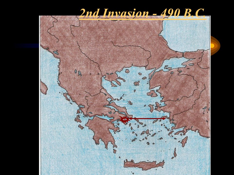 2nd Invasion - 490 B.C.