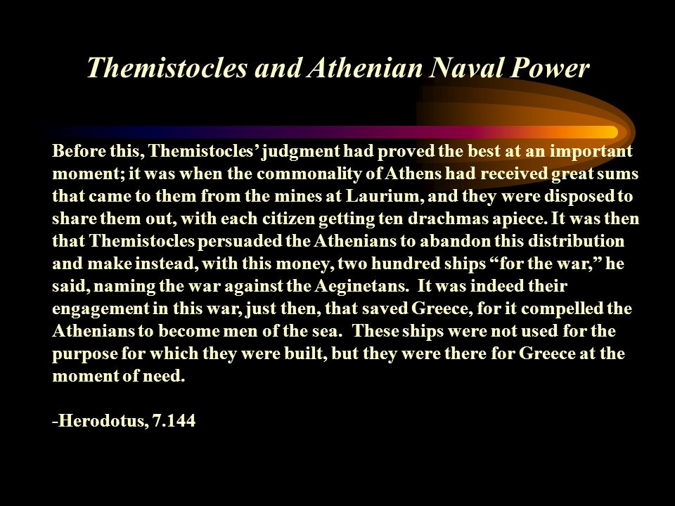 Themistocles and Athenian Naval Power
