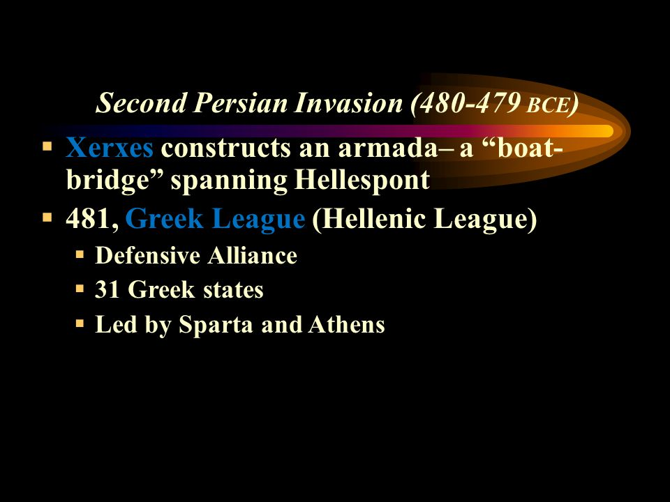 Second Persian Invasion (480-479 BCE)
