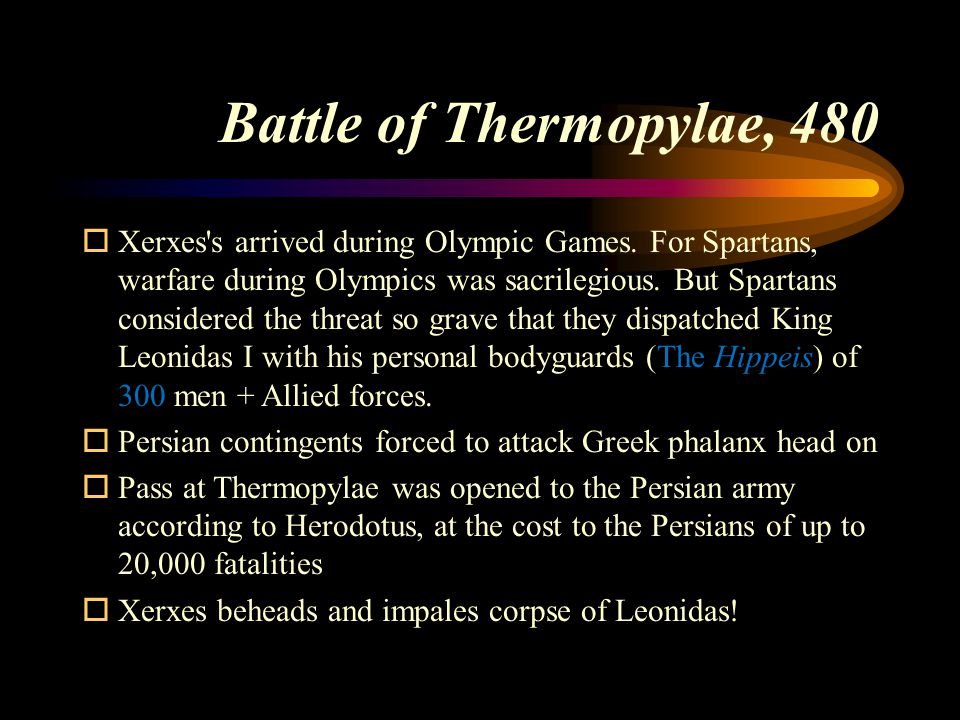 Battle of Thermopylae, 480