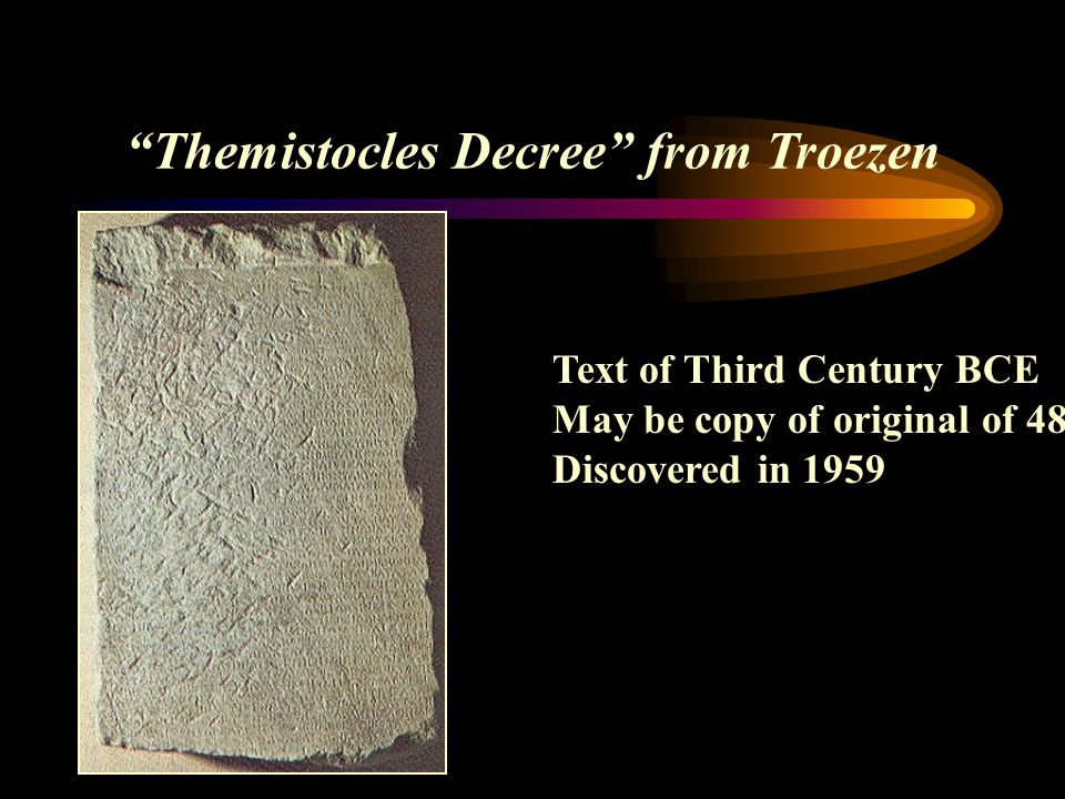 Themistocles Decree from Troezen