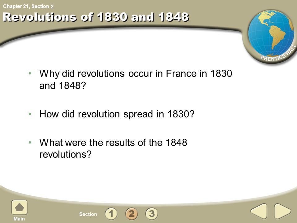 2 Revolutions of 1830 and 1848. Why did revolutions occur in France in 1830 and 1848 How did revolution spread in 1830