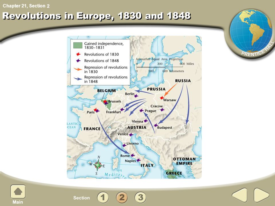 Revolutions in Europe, 1830 and 1848