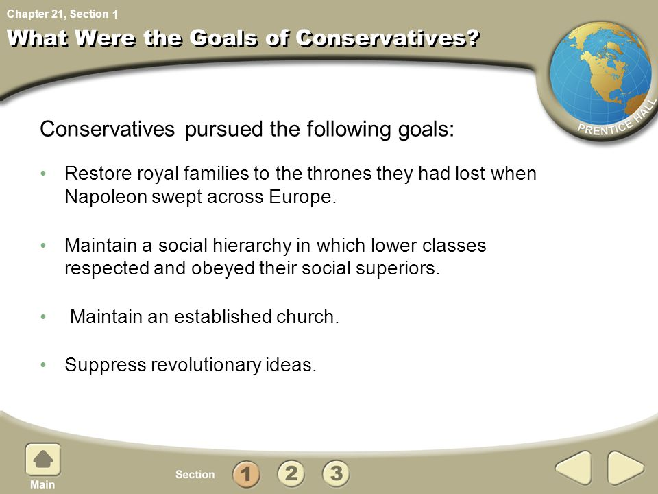 What Were the Goals of Conservatives
