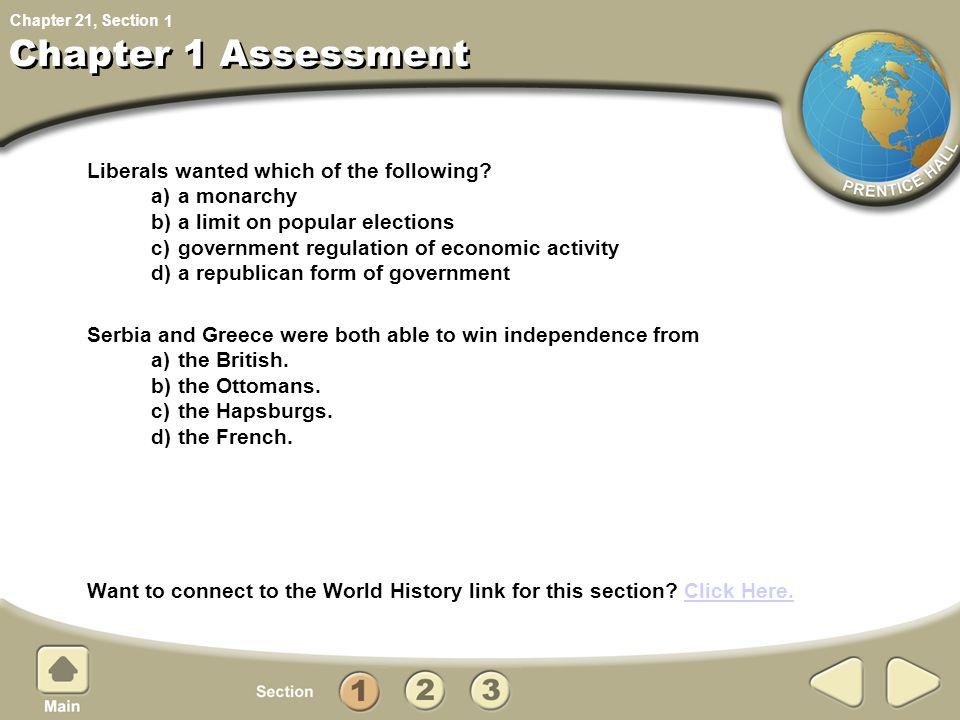 Chapter 1 Assessment 1.