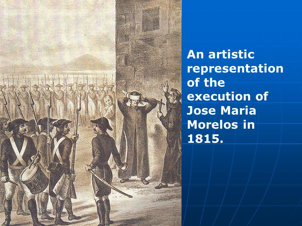 An artistic representation of the execution of Jose Maria Morelos in 1815.