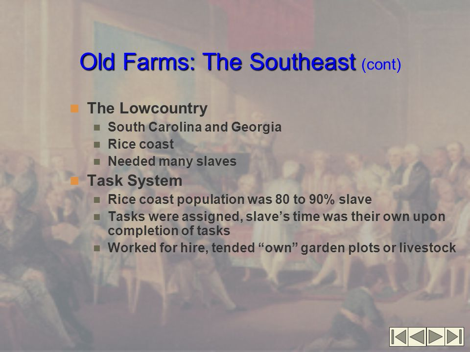 Old Farms: The Southeast (cont)