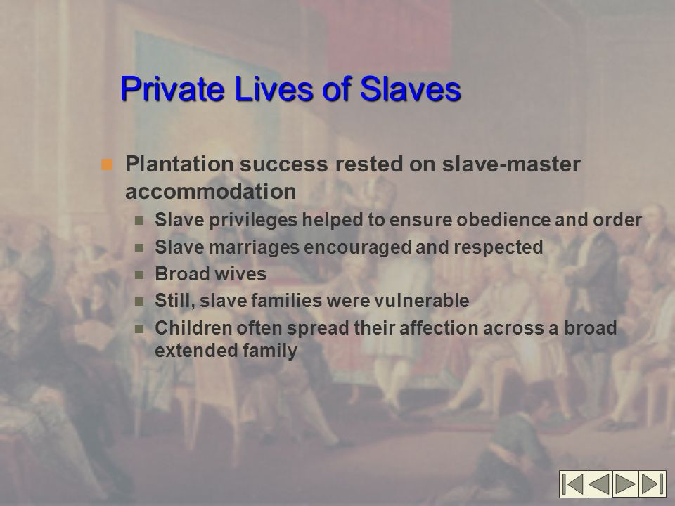 Private Lives of Slaves