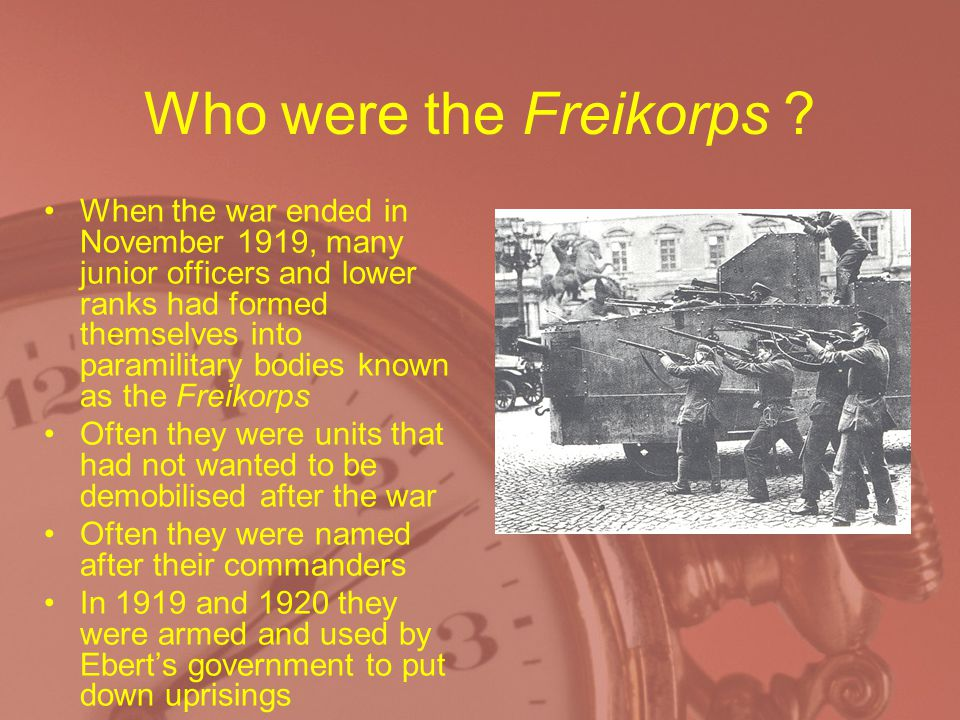 Who were the Freikorps