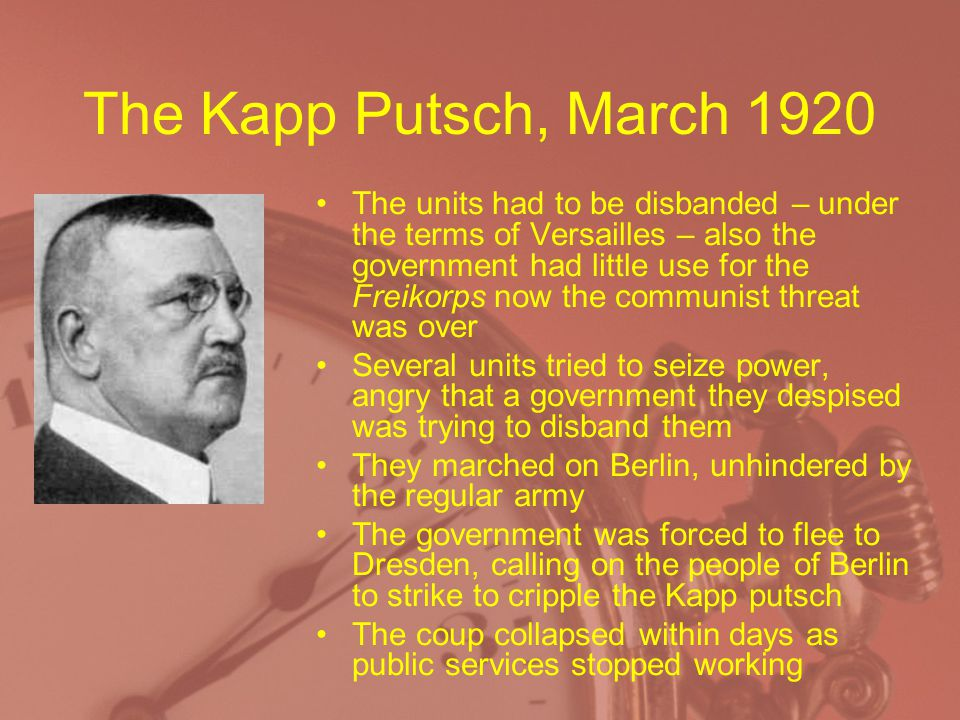 The Kapp Putsch, March 1920