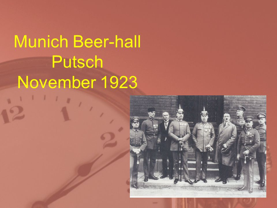 Munich Beer-hall Putsch November 1923