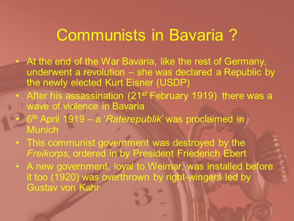 Communists in Bavaria