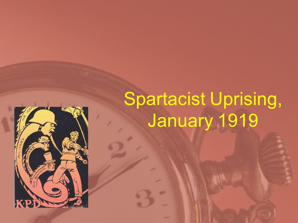 Spartacist Uprising, January 1919