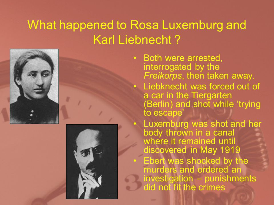 What happened to Rosa Luxemburg and Karl Liebnecht