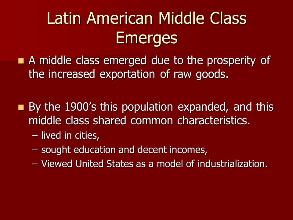 Latin American Middle Class Emerges