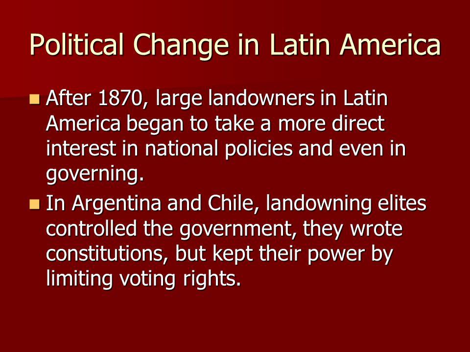 Political Change in Latin America
