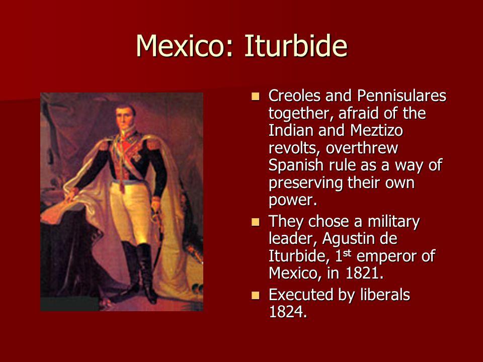 Mexico: Iturbide