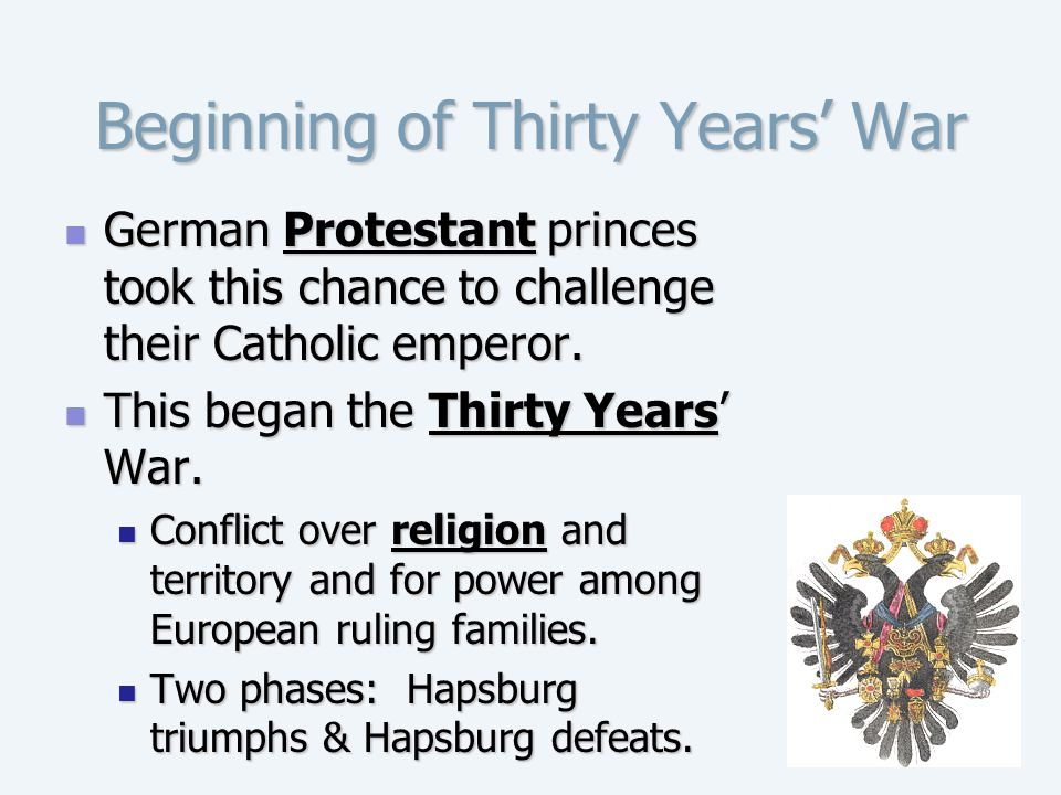 Beginning of Thirty Years' War
