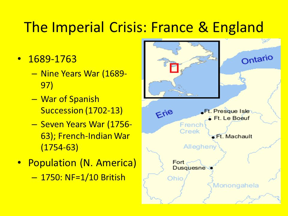 The Imperial Crisis: France & England