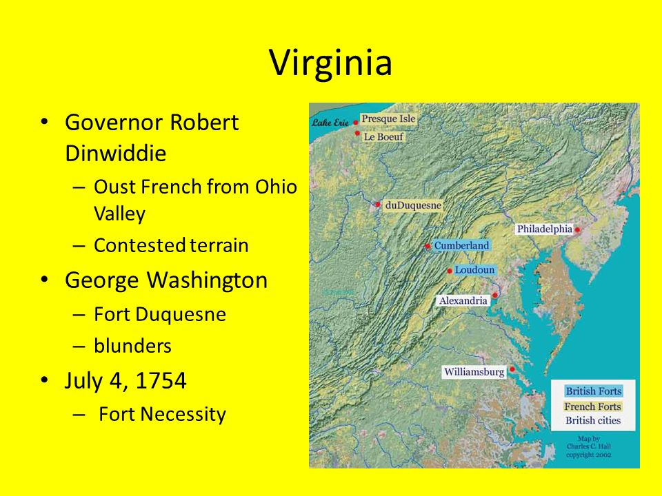 Virginia Governor Robert Dinwiddie George Washington July 4, 1754