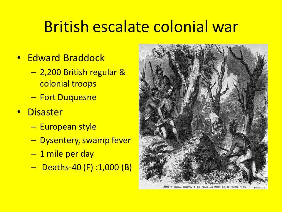 British escalate colonial war