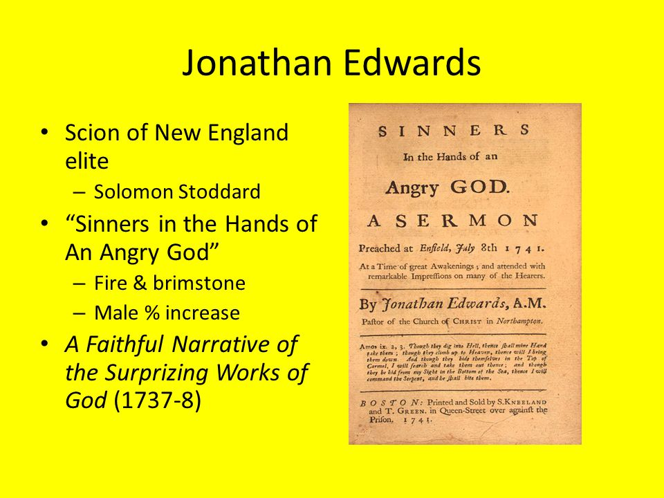 Jonathan Edwards Scion of New England elite