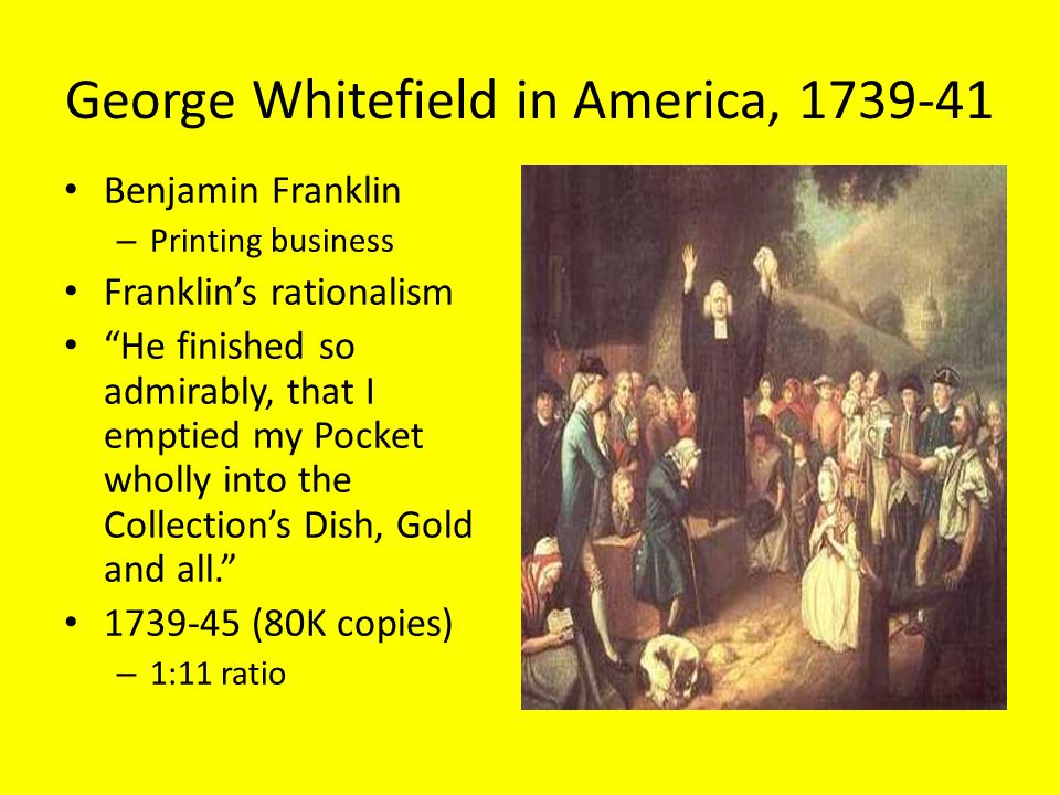 George Whitefield in America, 1739-41
