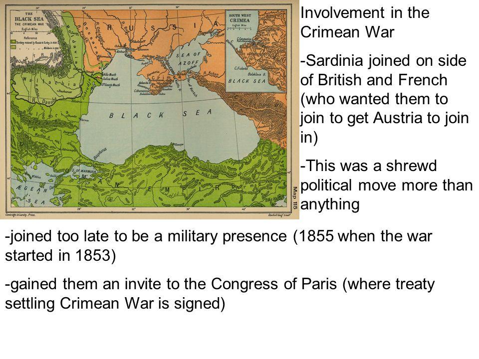 Involvement in the Crimean War