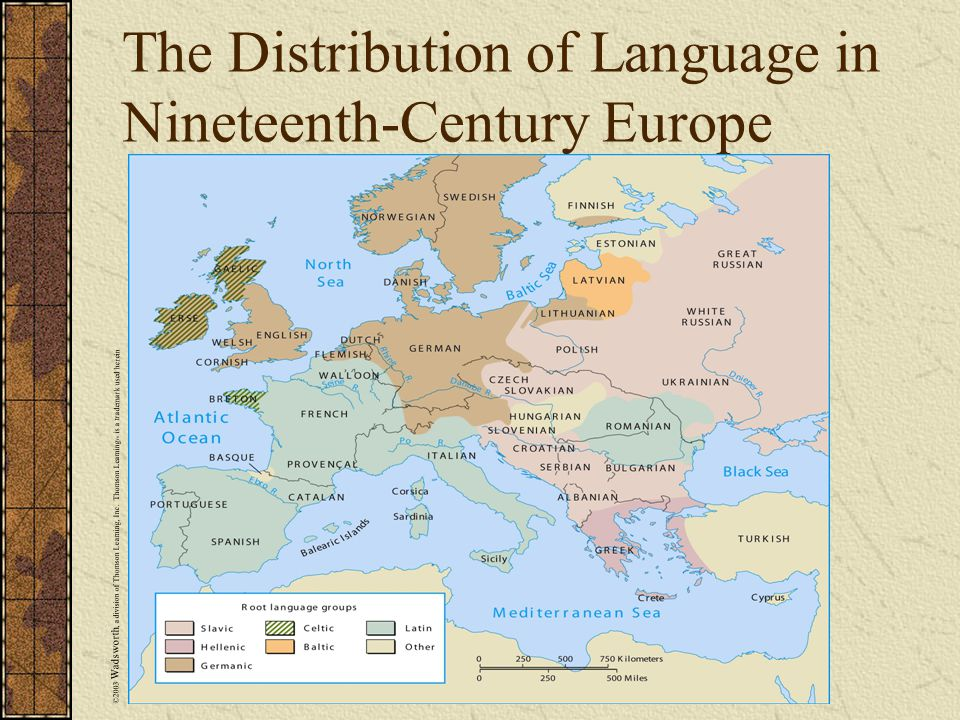 The Distribution of Language in Nineteenth-Century Europe