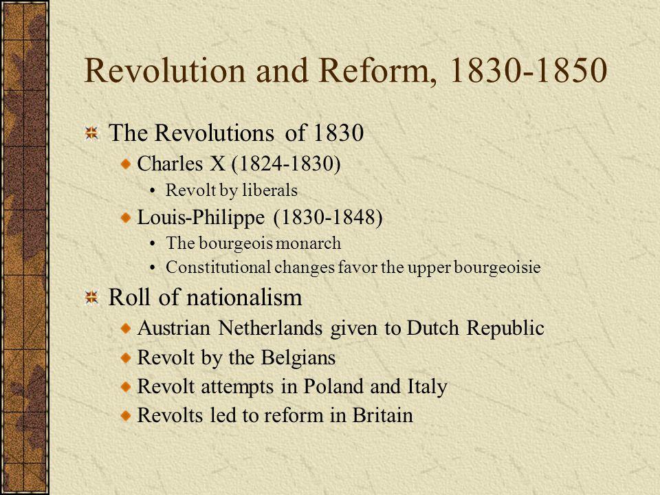 Revolution and Reform, 1830-1850