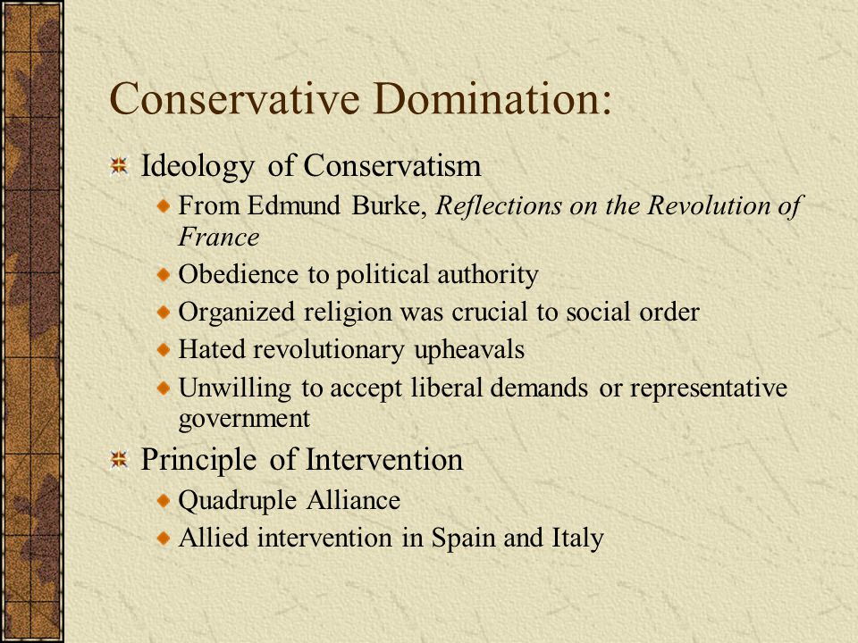 Conservative Domination: