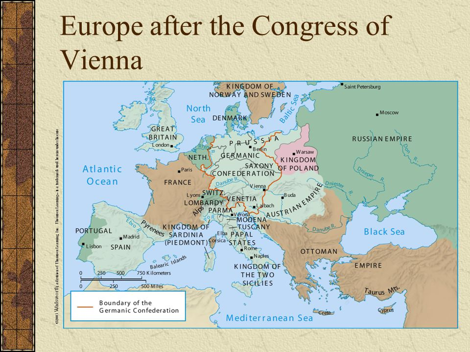 Europe after the Congress of Vienna