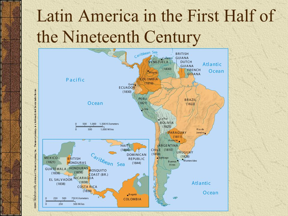 Latin America in the First Half of the Nineteenth Century