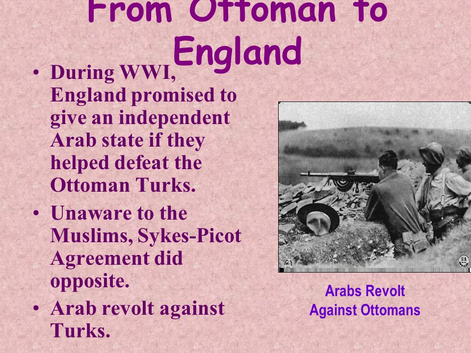 From Ottoman to England