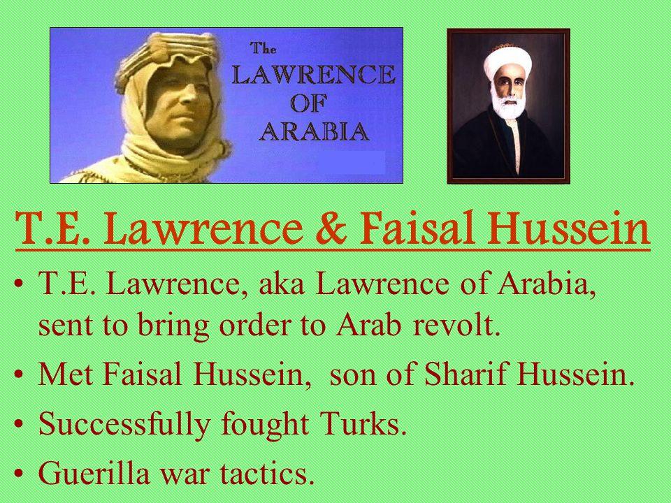 T.E. Lawrence & Faisal Hussein
