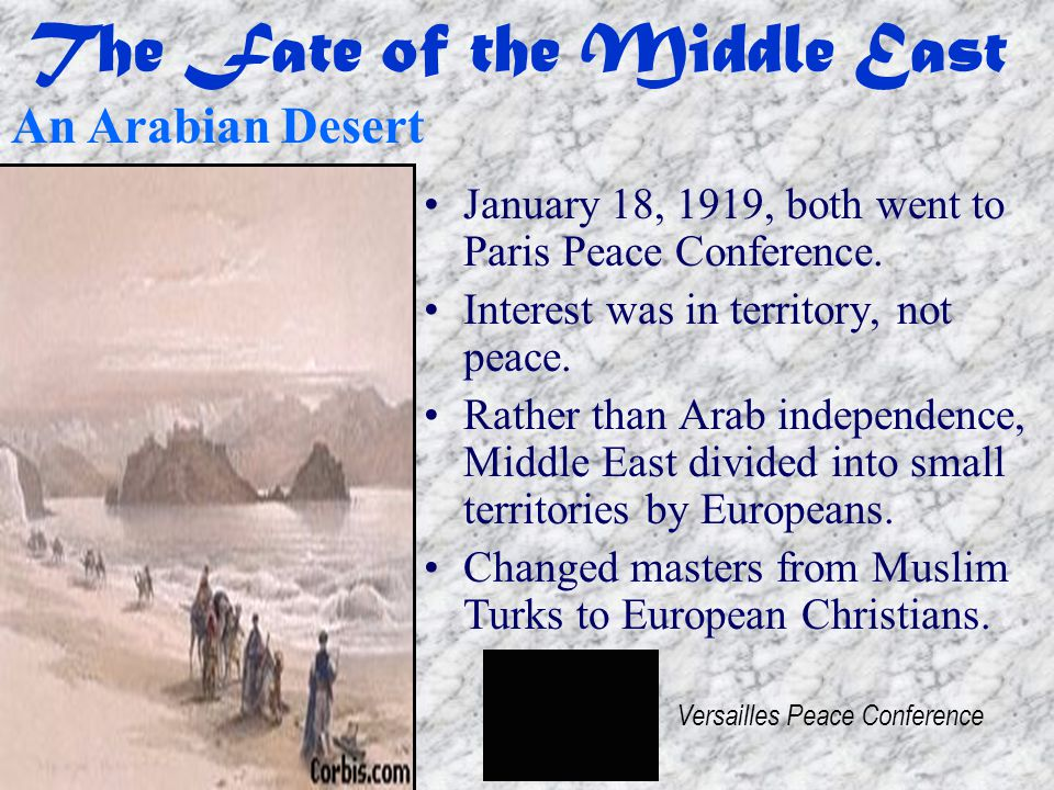 The Fate of the Middle East