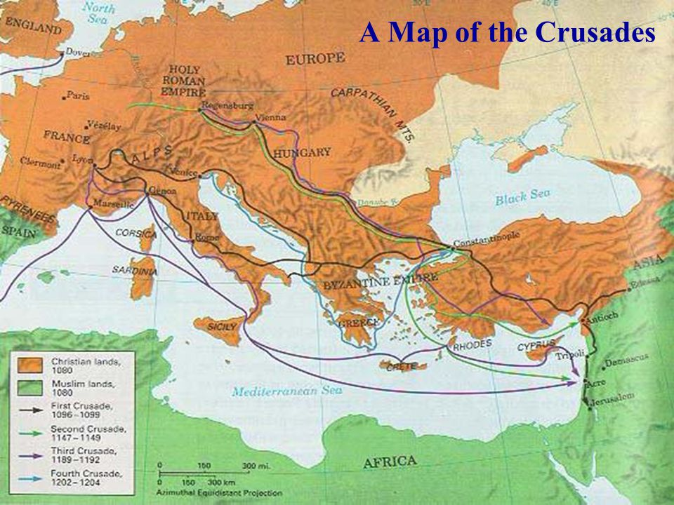 A Map of the Crusades