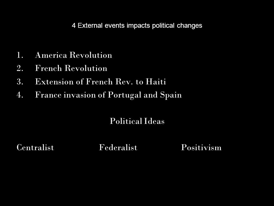4 External events impacts political changes