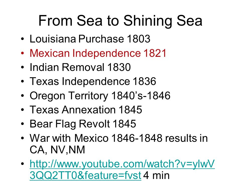 From Sea to Shining Sea Louisiana Purchase 1803