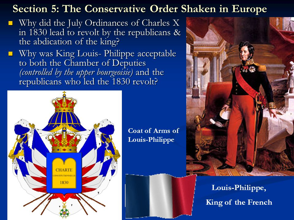 Section 5: The Conservative Order Shaken in Europe