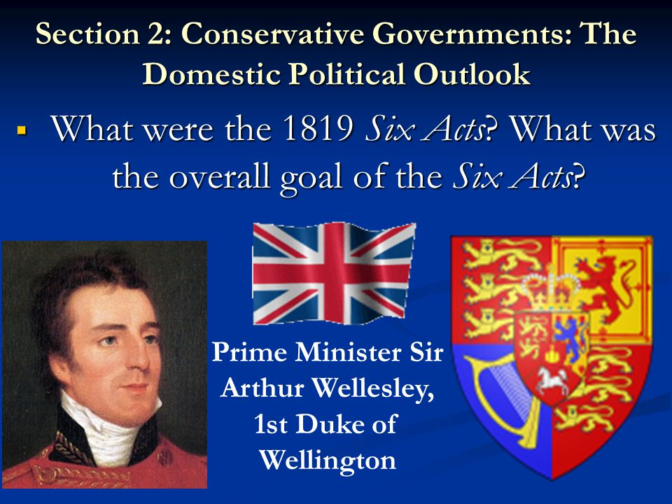 Section 2: Conservative Governments: The Domestic Political Outlook