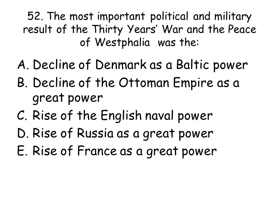 Decline of Denmark as a Baltic power