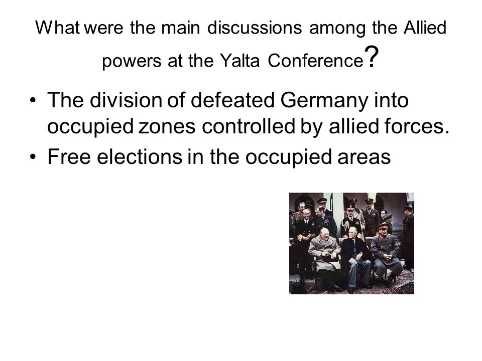 Free elections in the occupied areas