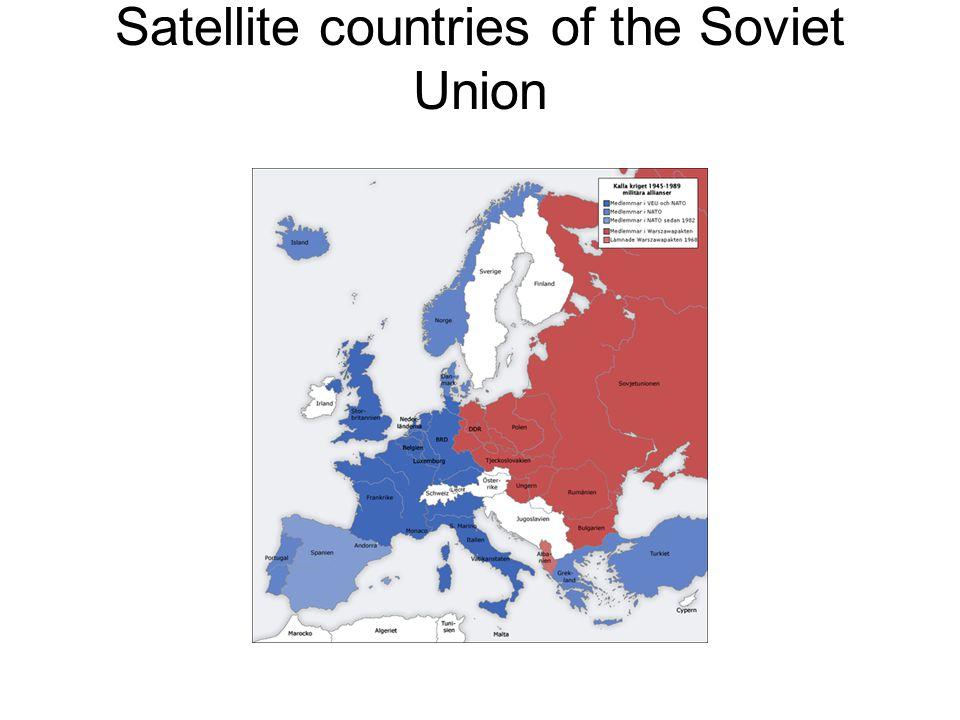 Satellite countries of the Soviet Union